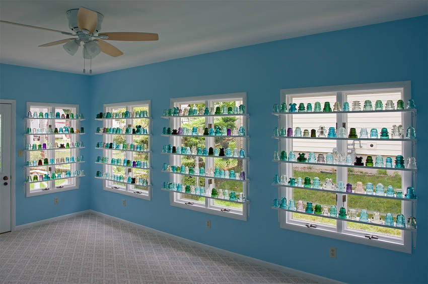 After Two Years Of Remodeling My Patio Room The Room Finally Got Finish  This Past Week With The Last Of My Common Insulators Put Up On The Shelves.