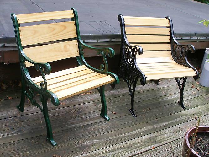 General > Repurposed park bench ends