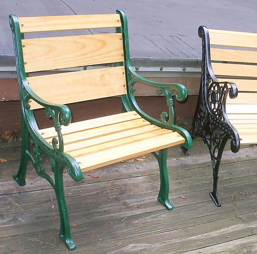 Tremendous General Repurposed Park Bench Ends Ibusinesslaw Wood Chair Design Ideas Ibusinesslaworg