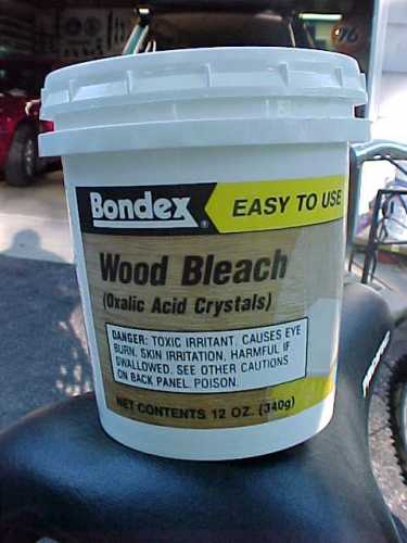 Reference Information Gt Oxalic Acid Bondex Wood Bleach