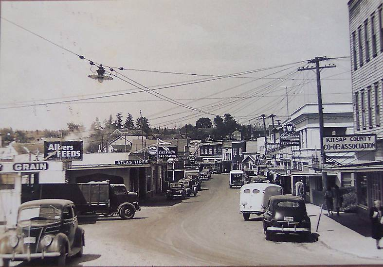 Vintage Photographs Gt Poulsbo Wa 1940s Downtown Old Cars
