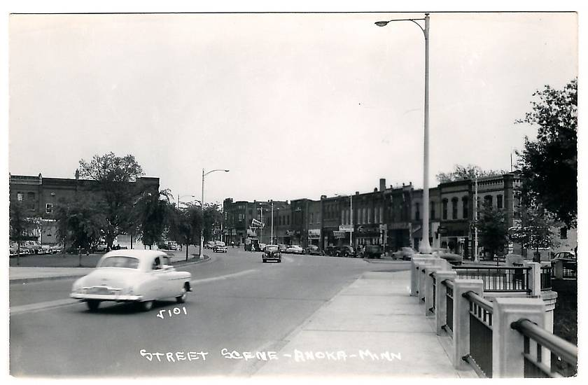 Vintage Photographs Gt Anoka Mn C 1950 Downtown Old Cars